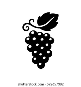 Grape vine vector icon, solid black flat symbol. Simple and stylish logo illustration.