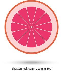 Grapefruit slice. Vector Illustration
