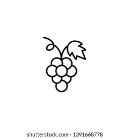 grapes fruit icon vector illustration