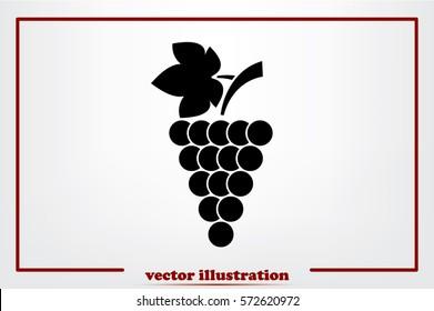 Grapes icon vector illustration.