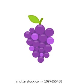 Grapes icon. Vector illustration. Flat design.