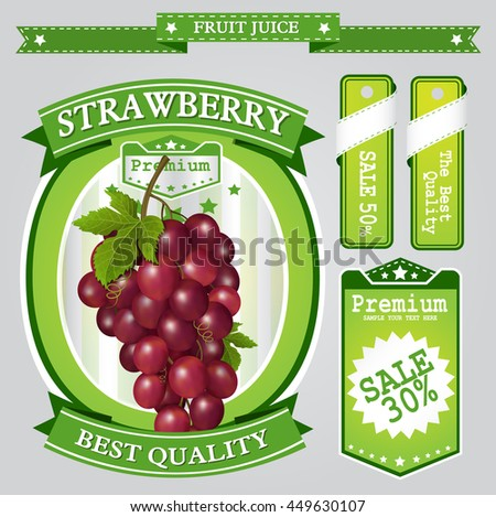 grapes juice label vector visual ideal stock vector (royalty free