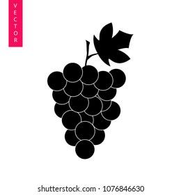Grapes vector icon, logo