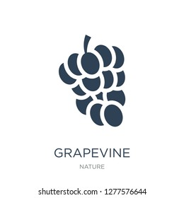 grapevine icon vector on white background, grapevine trendy filled icons from Nature collection, grapevine vector illustration