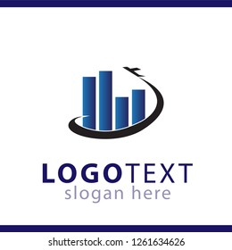 graph business logo vector template