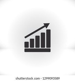 Graph Chart  icon. Vector  Eps 10