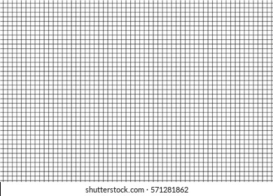GRAPH CHECK seamless pattern background vector,  Black and white line texture backdrop.