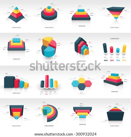 graph design 3 d info graphic template stock vector royalty free