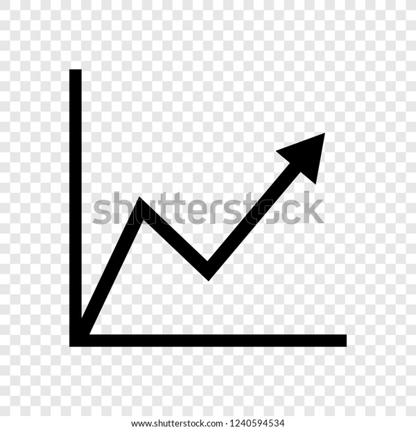 Graph Diagram Icon Vector Transparent Grid Stock Vector
