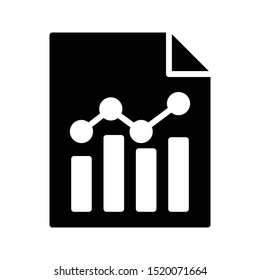 graph file glyph flat vector icon