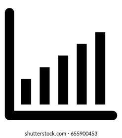 Graph Glyph Vector Icon