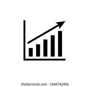 Graph icon flat style ,diagram icon