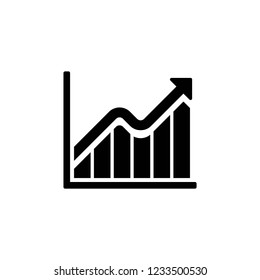 graph icon, icons vector on white background