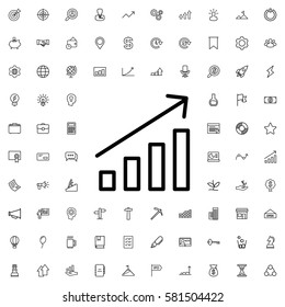 graph icon illustration isolated vector sign symbol. Startup icons set.