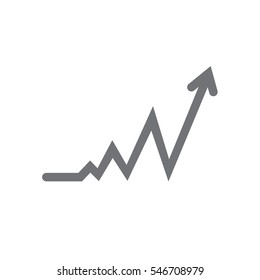 graph icon illustration isolated in a white background