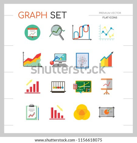 Pleasing Graph Icon Set Magnifier Graph Growing Stock Vector Royalty Free Wiring Digital Resources Jonipongeslowmaporg