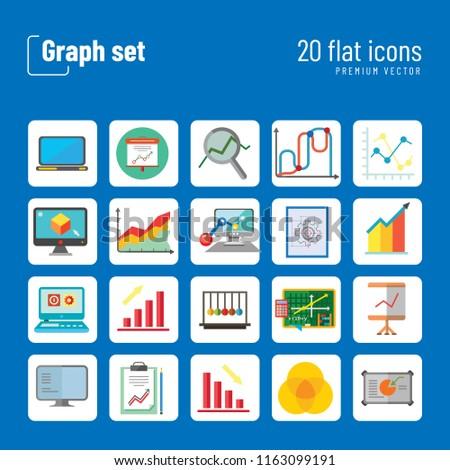 Admirable Graph Icon Set Magnifier Graph Growing Stock Vektorgrafik Wiring Digital Resources Jonipongeslowmaporg
