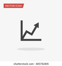 Graph Icon in trendy flat style isolated on grey background. Chart symbol for your web site design, logo, app, UI. Vector illustration, EPS10.