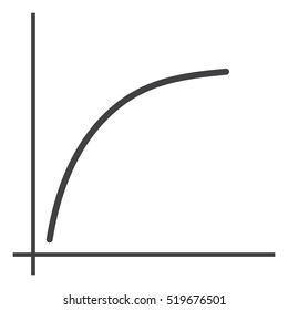 Graph Icon Vector flat design style