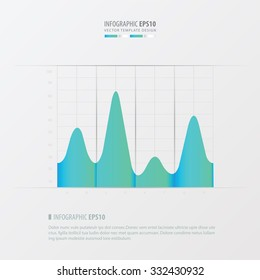 graph and infographic design   blue color