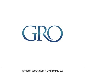 Graph letter GRO for business companies and others
