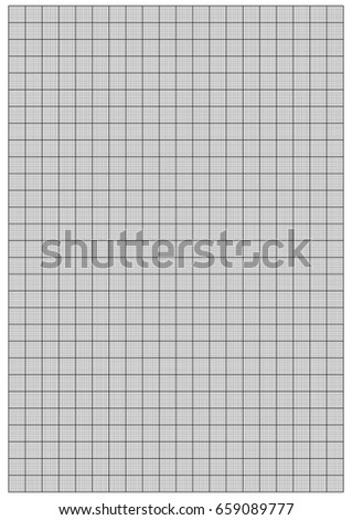 graph paper 1 mm square a 4 stock vector royalty free 659089777