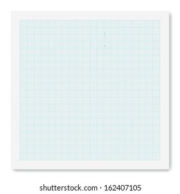 Graph paper background. vector.
