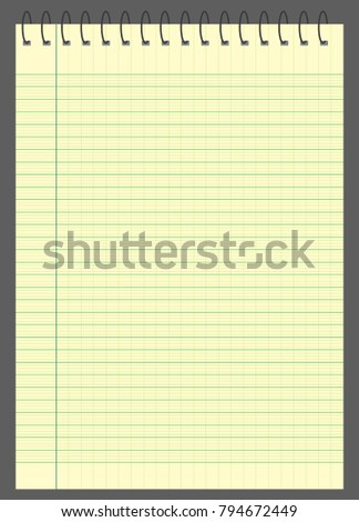 Graph Paper Lined Graph Paper A 4 Stock Vector Royalty Free