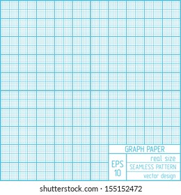 Graph paper seamless pattern. Real scale.