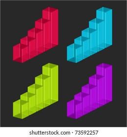 Graph set vector illustration. Eps 10.