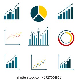 Graph in trendy flat style. Vector illustration