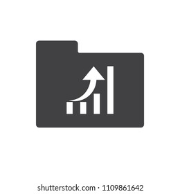 Graph vector icon for web design and mobile app in flat style