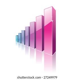 Graph, vector illustration