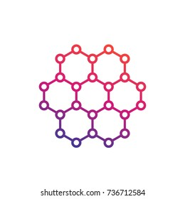 graphene, carbon structure vector illustration