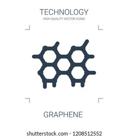 graphene icon. high quality filled graphene icon on white background. from technology collection flat trendy vector graphene symbol. use for web and mobile