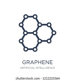 Graphene icon. Trendy flat vector Graphene icon on white background from Artificial Intelligence, Future Technology collection, vector illustration can be use for web and mobile, eps10