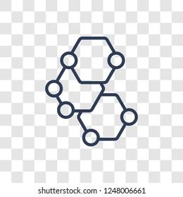 Graphene icon. Trendy linear Graphene logo concept on transparent background from Artificial Intellegence and Future Technology collection