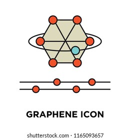 Graphene icon vector isolated on white background, Graphene transparent sign , technology symbols
