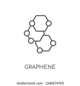 Graphene linear icon. Modern outline Graphene logo concept on white background from Artificial Intellegence and Future Technology collection. Suitable for use on web apps, mobile apps and print media.