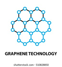 Graphene nano technology Icon, and symbol