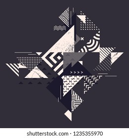 Graphic background of decorative triangles