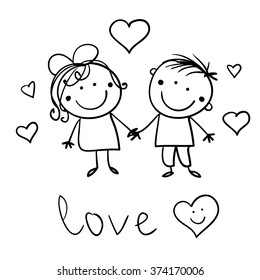 Cute Boy And Girl Images Stock Photos Vectors Shutterstock