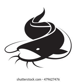graphic catfish,vector