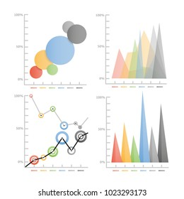 Graphic Chart - Infographic vector illustration for business
