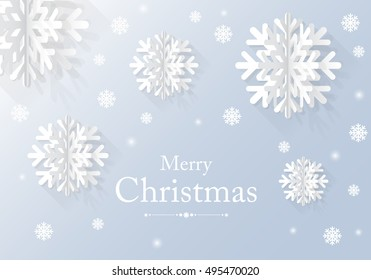 graphic Christmas card with  snow flake. vector