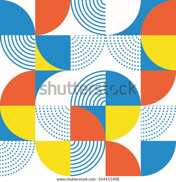 図形の円のシームレスなパターン。ベクターイラスト。