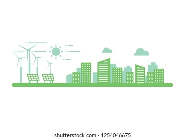 graphic clean energy, vector