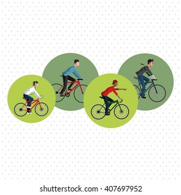Graphic design of Bike lifestyle, vector illustration