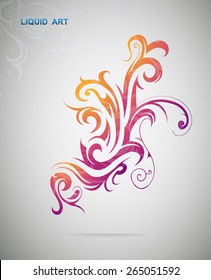 Graphic design element. Floral swirls