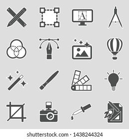 Graphic Design Icons. Sticker Design. Vector Illustration.